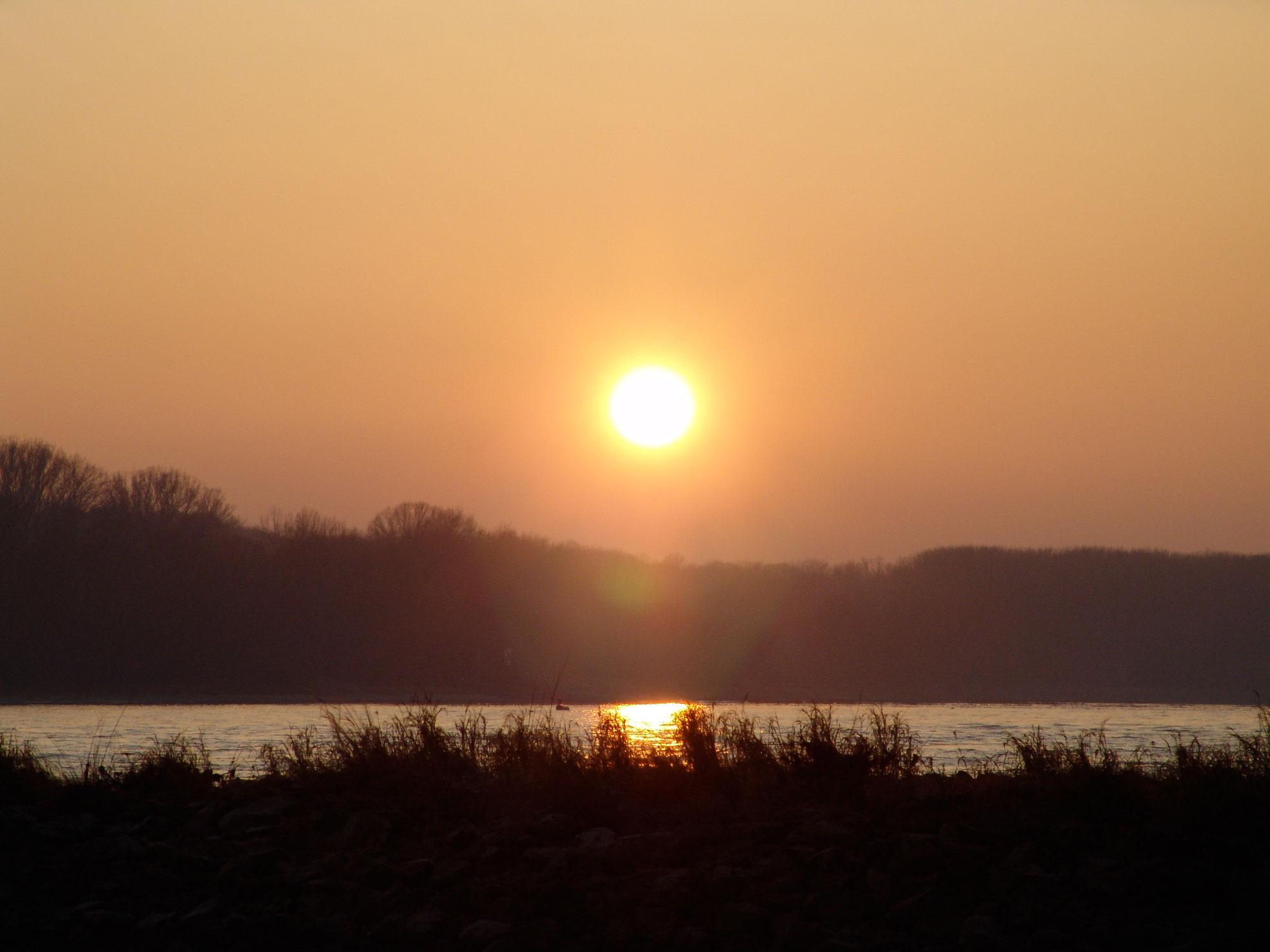 Sonnenuntergang am 28. Dezember 2008