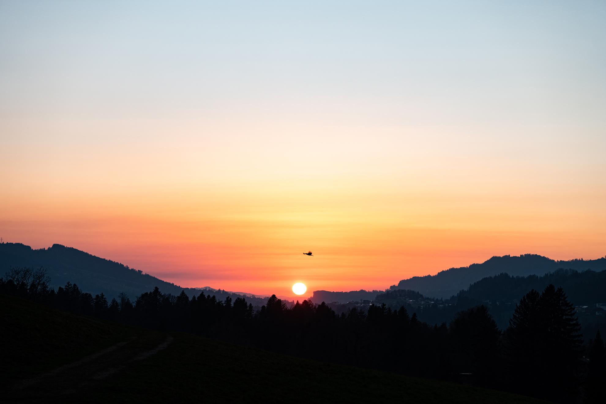 Sonnenuntergang am 18. März 2020