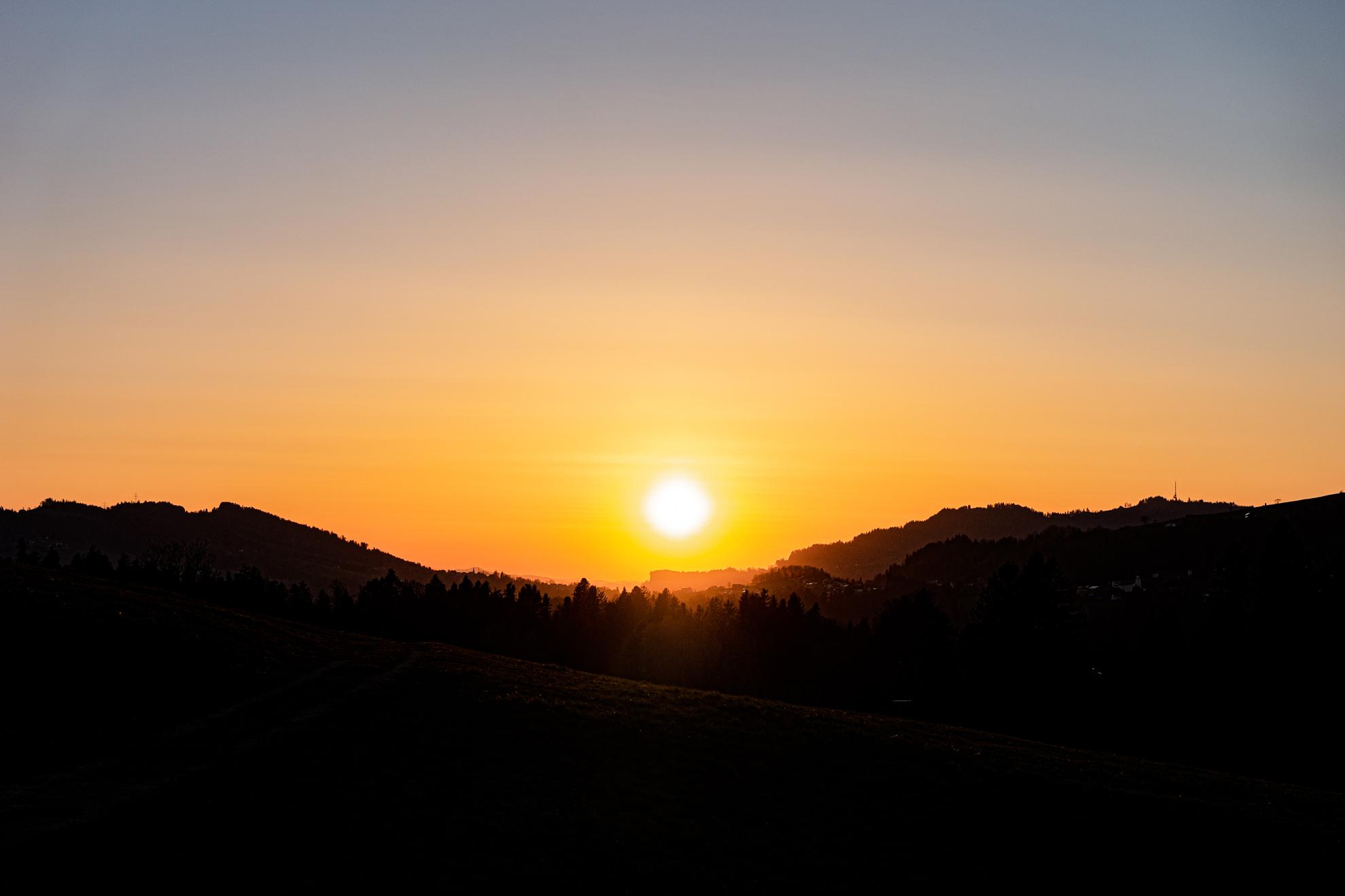 Sonnenuntergang am 23. März 2020