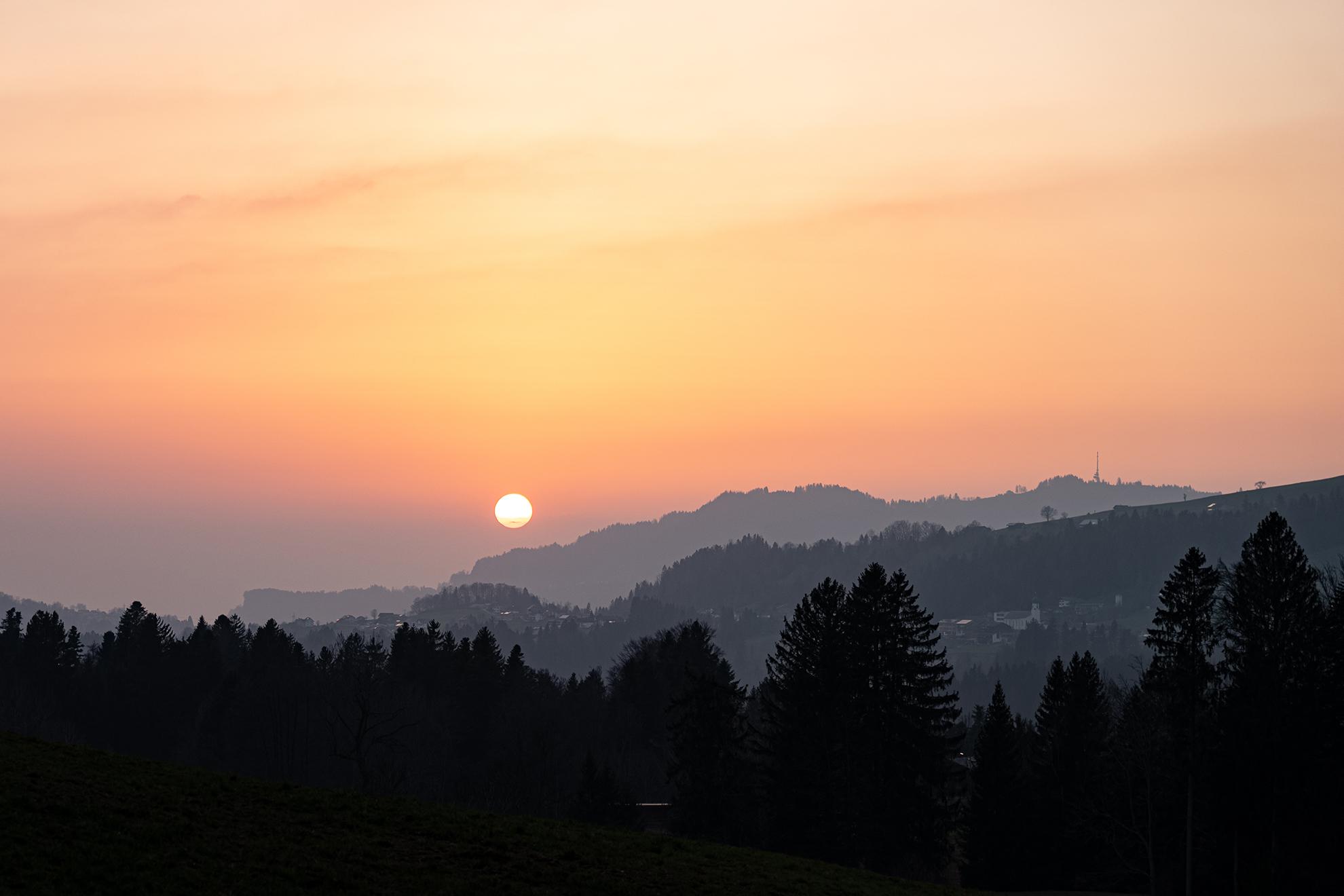 Sonnenuntergang am 28. März 2020