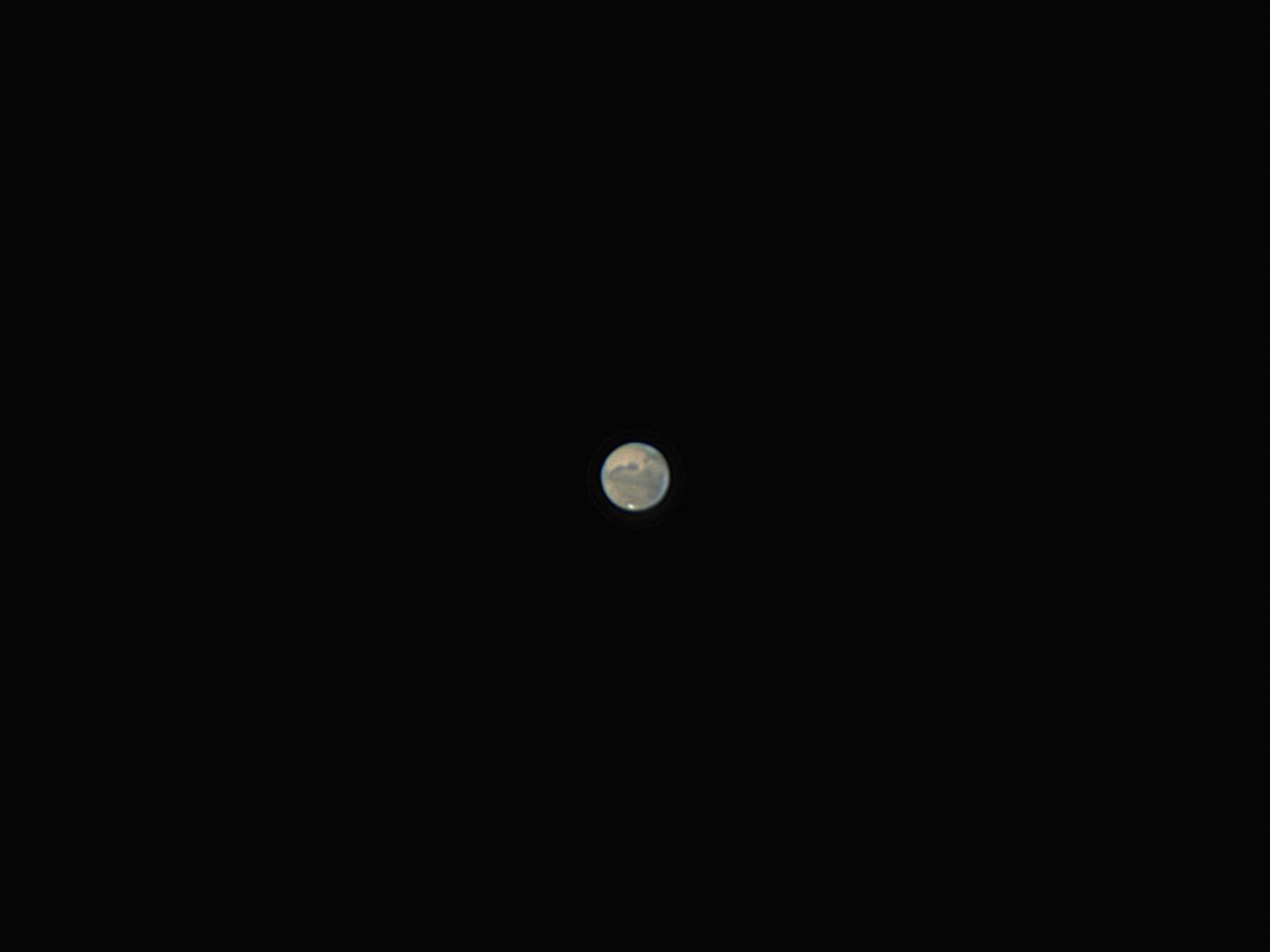 Der Mars am 24. Oktober 2020